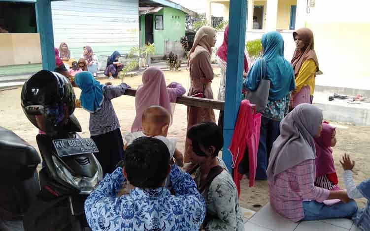 Pendaftaran PPDB di SDN Mendawai 2 Sukamara.