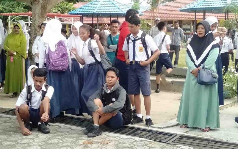 Pelajar SMP di Sukamara.