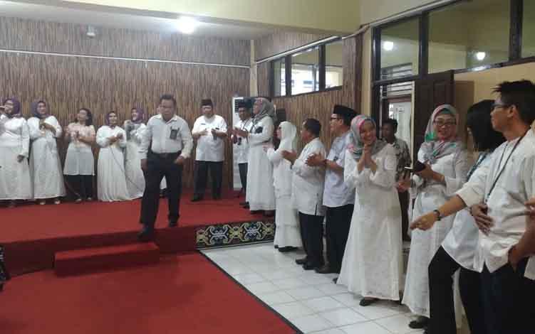 Suasana Halalbihalal yang digelar di Pengadilan Negeri Palangka Raya, Kamis, 13 Juni 2019.
