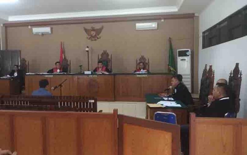 Sidang kasus Yantenglie di PN Tipikor Palangka Raya, Kamis, 13 Juni 2019.