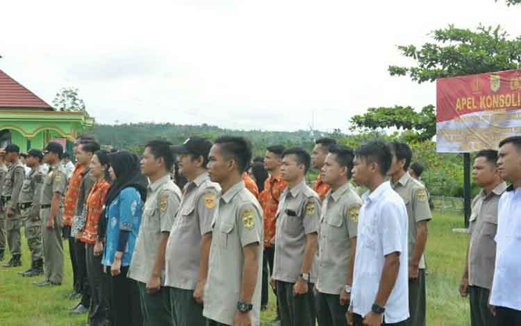 Apel Konsolidasi Operasi Ketupat Telabang 2019 di Polres Gunung Mas, Kamis, 13 Juni 2019.