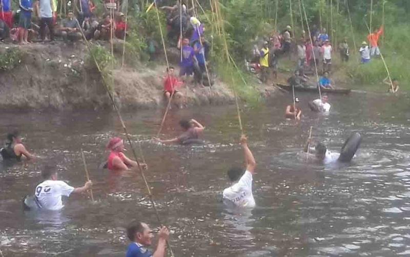 Festival Nariuk di Desa Pulau Patai, Kecamatan Dusun Timur, Jumat, 14 Juni 2019.