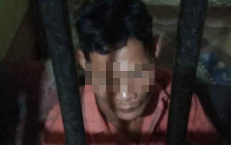 RS, terduga pelaku (blur) penganiaya karyawan PT Susantri Permai.