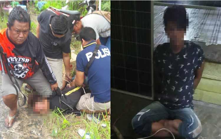 Dua terduga pelaku (blur) kasus pencurian lampu PJU