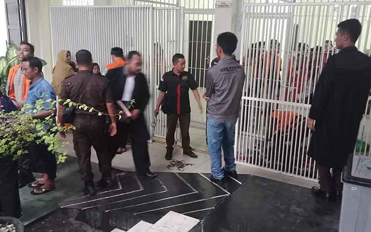 Suasana sel tahanan Pengadilan Negeri Sampit