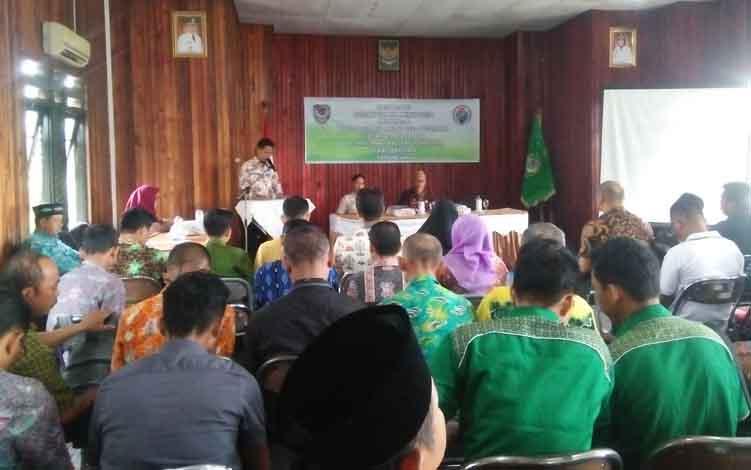 Pembukaan Sosialisasi BUMDes dan BUMDes Bersama untuk desa di Kecamatan Seruyan Hilir dan Seruyan Hilir Timur, di Kuala Pembuang, Kamis 20 Juni 2019