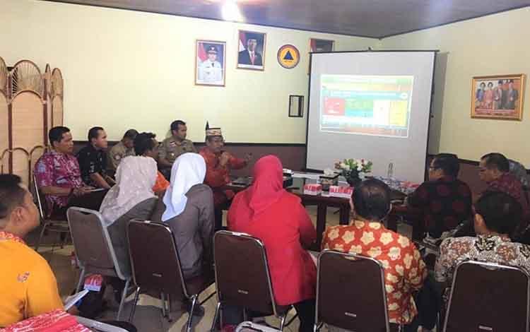 Suasana saat pertemuan antara jajaran BPBD Kapuas dan Komisi III DPRD Tabalong, Jumat, 21 Juni 2019