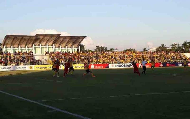 Laga Kalteng Putra vs Barito Putra, Sabtu, 22 Juni 2019.