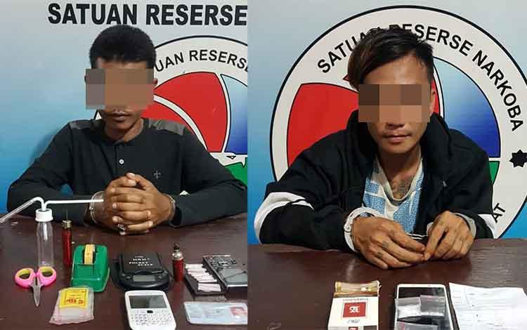 Dua warga Kelurahan Baru Kecamatan Arsel yang ditangkap polisi saat bertransaksi sabu