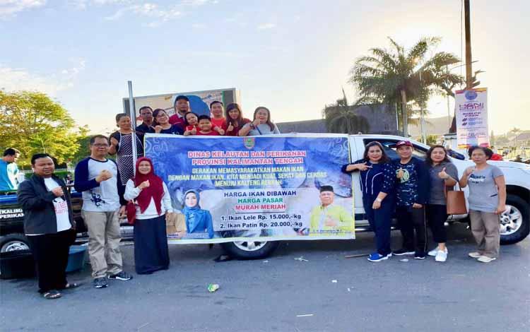 Dinas Kelautan dan Perikanan Provinsi Kalimantan Tengah menjalankan program gerakan memasyarakatkan makan ikan, Minggu, 23 Juni 2019