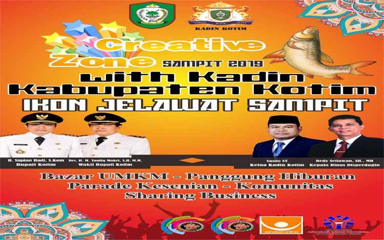 Promosi kegiatan di sekitar kawasan Ikon Jelawat Sampit