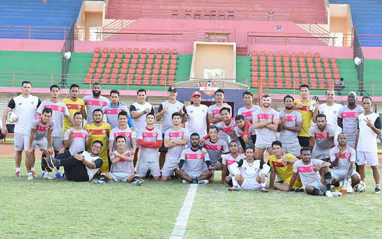 Skuad Kalteng Putra siap tampil melawan Bali United, Rabu, 26 Juni 2019