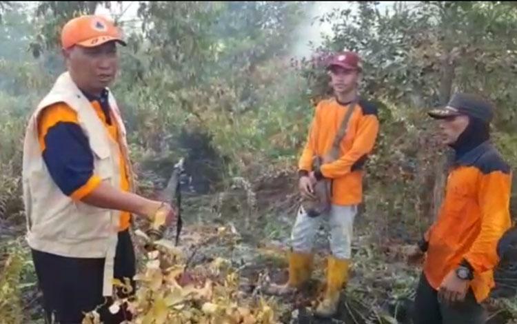 Kebakaran lahan  di Palangka Raya
