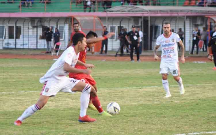 Tim Kalteng Putra saat berlaga melawan Bali United, Rabu, 26 Juni 2019