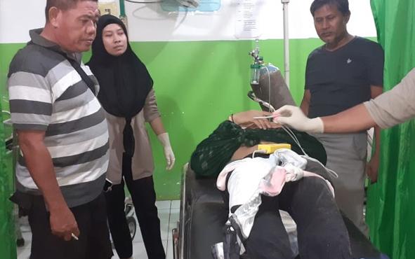 Jenazah korban tenggelam saat dievakuasi ke RSUD Mas Amsar Kasongan, Minggu, 30 Juni 2019.