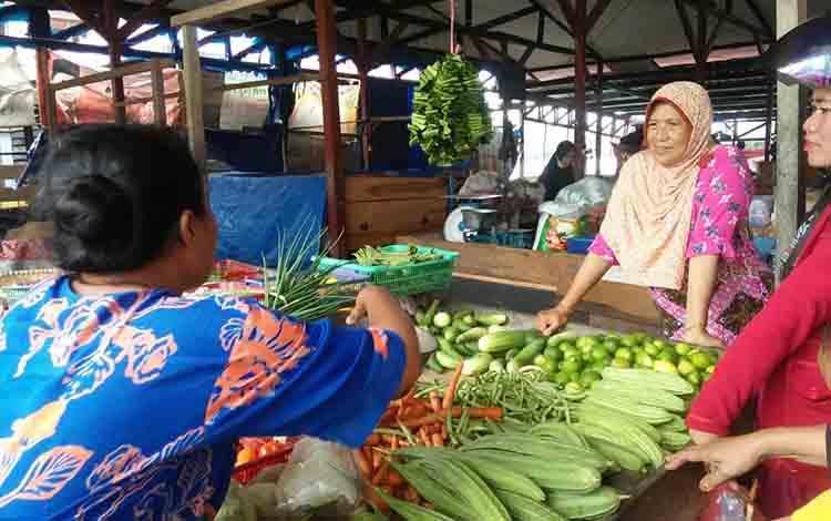 Sayur yang dijual di pasar SAIK Kuala Pembuang