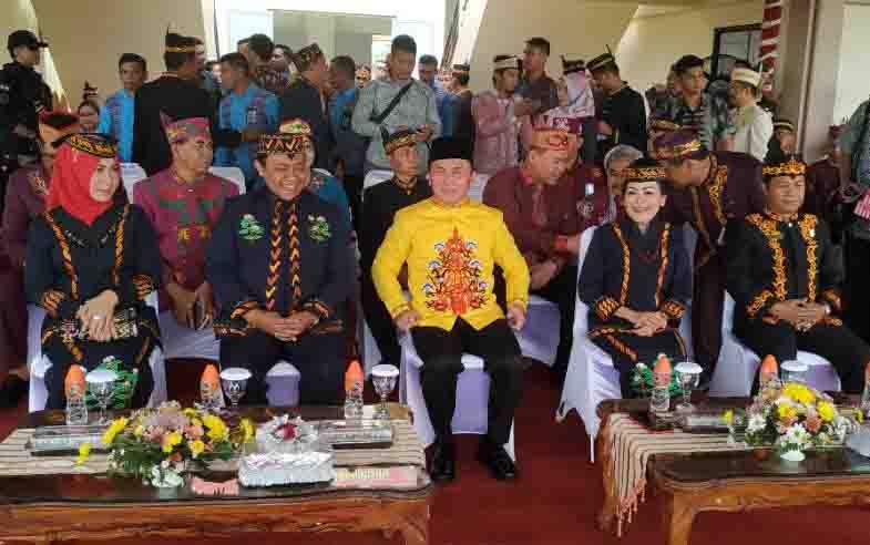 Gubernur Kalteng menghadiri upacara peringatan HUT Pulang Pisau, Selasa, 2 Juli 2019