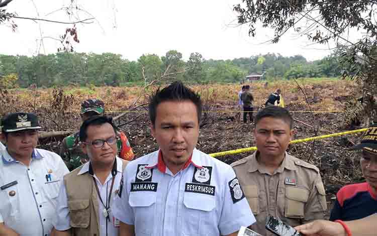 Kasubdit Tipiter Polda Kalimantan Tengah AKBP Nanang.