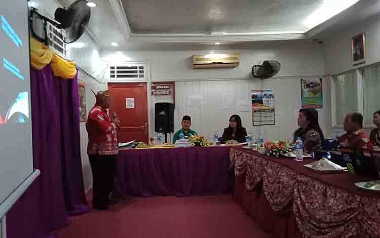 Monitoring dan evaluasi Komisi Informasi Kalimantan Tengah di Diskominfo-SP Murung Raya, Kamis, 4 Juli 2019.