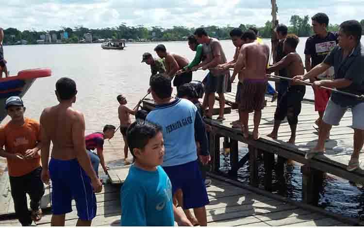 Lokasi pencarian pikap yang tenggelam di Kabupaten Pulang Pisau