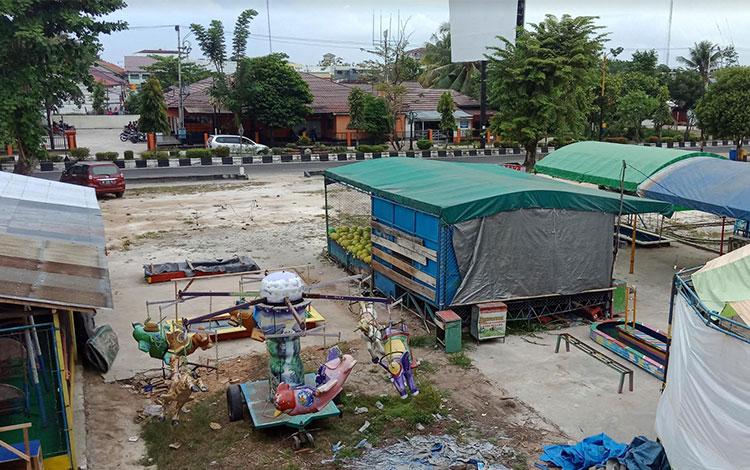 Kondisi pasar di areal eks Mentaya Sampit.