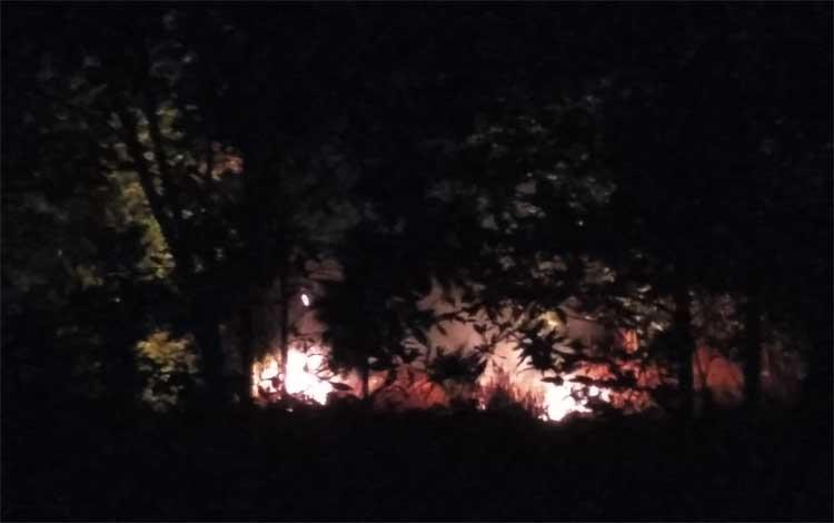 Lahan gambut di Kalimantan Tengah yang terbakat beberapa hari lalu