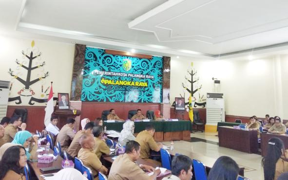 Rapat TEPRA Pemerintah Kota Palangka Raya di Aula PK II, Senin 8 Juli 2019.