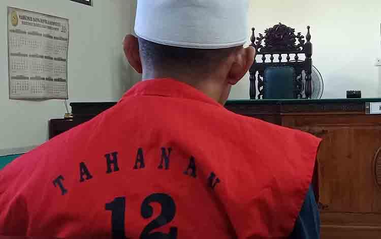 AP terdakwa sabu saat menjalani sidang di Pengadilan Negeri Sampit