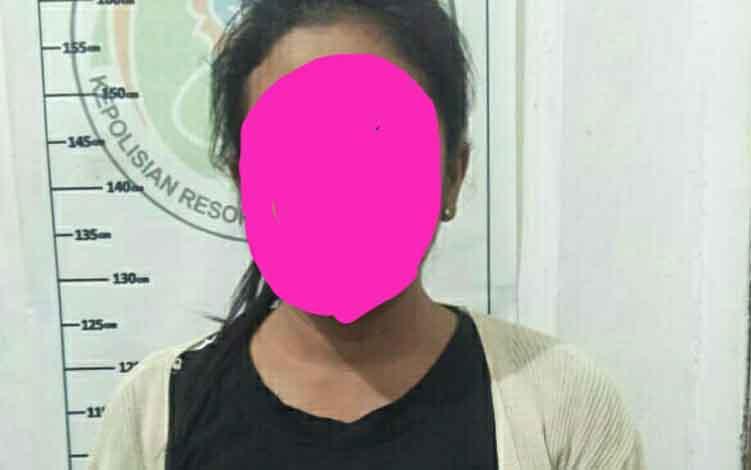 Tahanan Kejaksaan Negeri Kotim yang ditangkap lantaran menggunakan sabu di Lapas Kelas IIB Sampit.