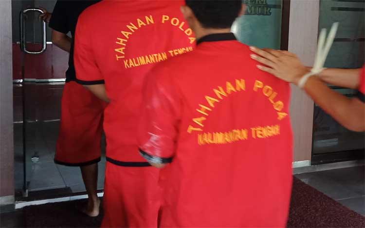 Tahanan narkotika saat di Kejaksaan Negeri Kotim