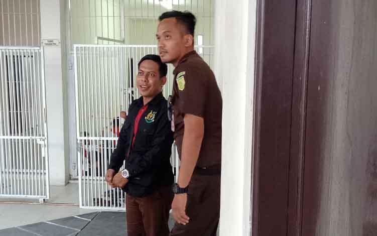 Suasana keamanan di depan sel Pengadilan Negeri Sampit.