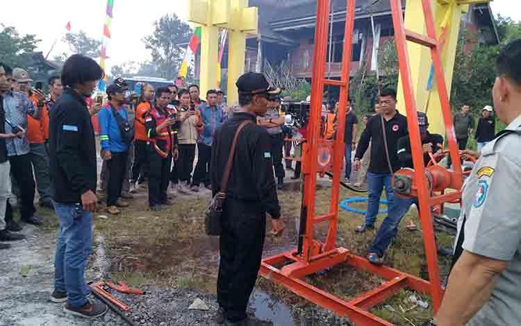 Alat bor sumur bantuan dari China untuk Kalimantan Tengah.