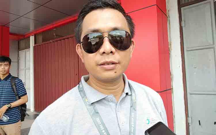 Verifikator dari PT Liga, Somad memberikan keterangan kepada wartawan, Jumat, 12 Juli 2019.