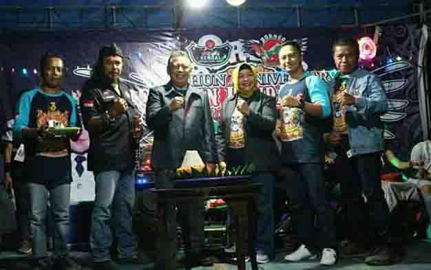 Sekda Seruyan Haryono menghadiri Anniversary 3 Tahun Seruyan Honda Lawas atau Sendal dan Temu Kangen CB Borneo Kalselteng ke 26 di Kuala Pembuang, Sabtu, 13 Juli 2019 malam.