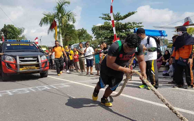 Lomba Strong Man Kapolres Cup yang digelar Polres Kotawaringin Barat, Minggu, 14 Juli 2019.