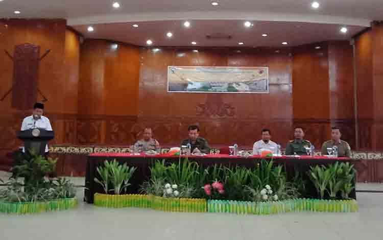 BPBD Murung Raya saat menggelar pelatihan pengendalian karhutla, Rabu, 17 Juli 2019.
