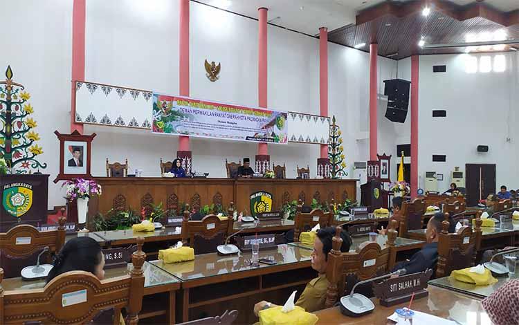 Rapat paripurna DPRD Kota Palangka Raya, 18 Juli 2019
