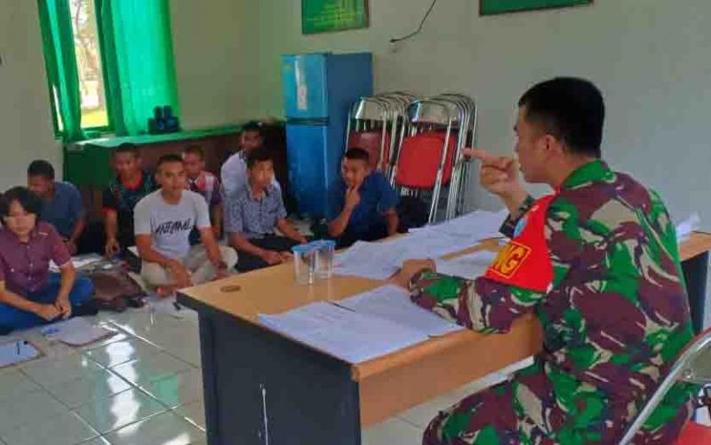 Pembekalan untuk calon prajurit TNI AD di Murung Raya.