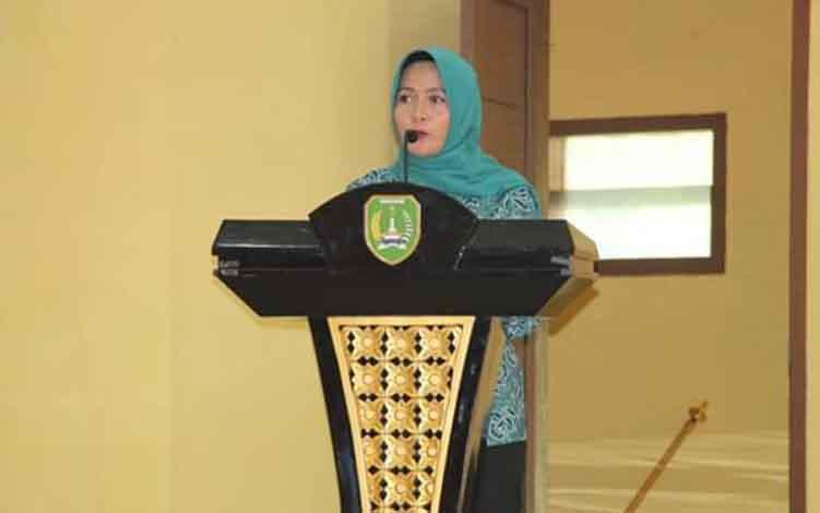 Ketua Dekranasda Sukamara, Siti Zulaiha Windu Subagio.