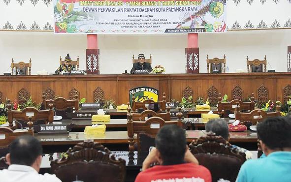 Rapat Paripurna DPRD Kota Palangka Raya, Jumat, 19 Juli 2019.