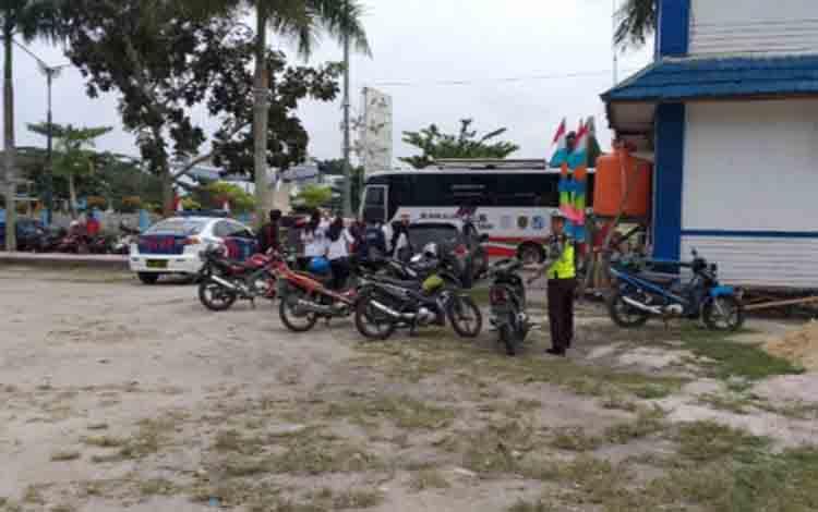 Razia kendaraan di kawasan Bundaran Pancasila