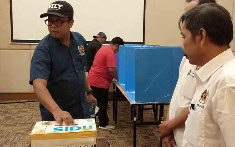 Proses pemilihan Ketua PWI Kalteng berlangsung di Hotel Luwansa, Jalan G Obos, Kota Palangka Raya, S