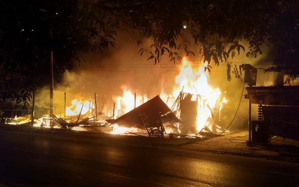 Kebakaran rumah di Kota Palangka Raya, beberapa waktu lalu.