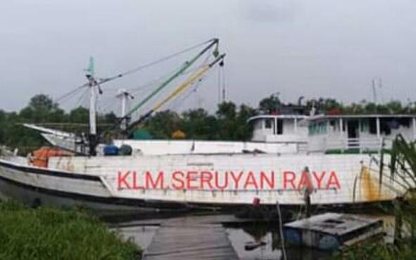 KLM Seruyan Raya saat tambat di terminal khusus di Sampit, beberapa waktu lalu.