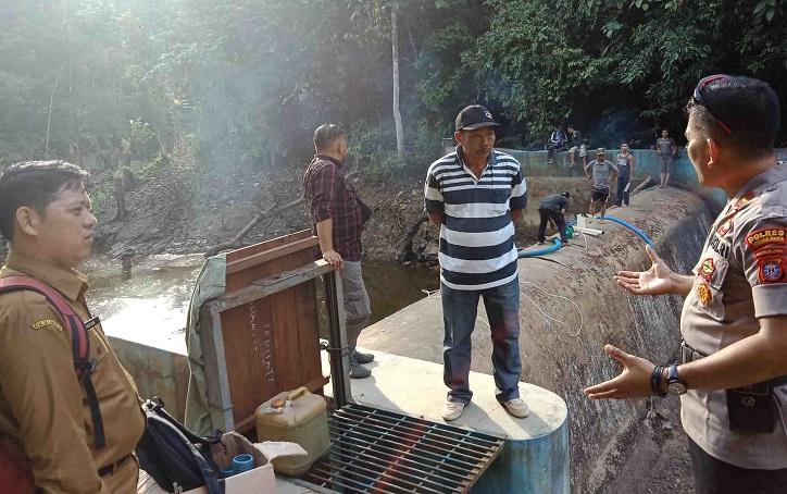 DAM Dirung Karengkang yang menjadi sumber air utama PDAM Puruk Cahu.
