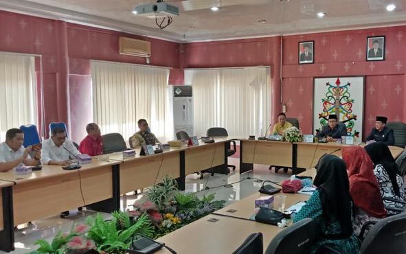 Kunjungan kerja DPRD Balangan ke DPRD Palangka Raya, Kamis, 25 Juli 2019.