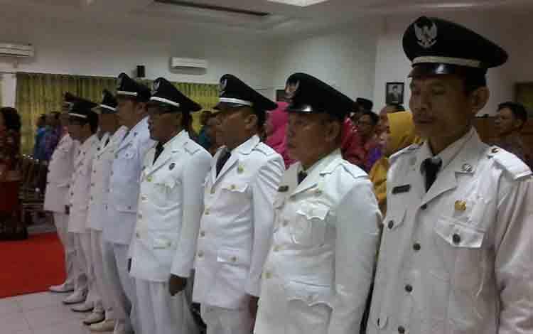 Sejumlah Pj kepala desa yang akan dilantik Bupati Sakariyas.