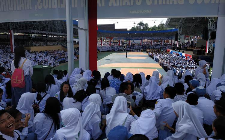 Peringatan Hari Jadi ke 69 Kabupaten Barito Utara di arena terbuka Tiara Batara Muara Teweh, Senin, 29 Juli 2019.