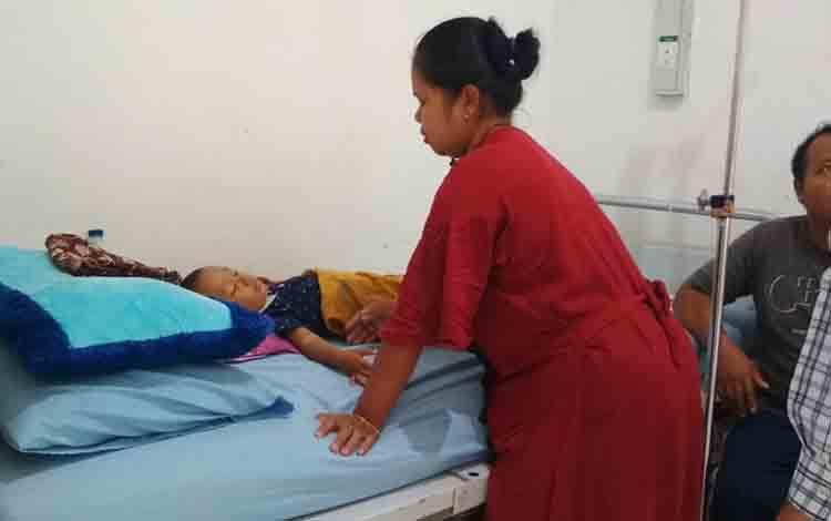 Pasien ISPA di RSUD Doris Sylvanus, Kota Palangka Raya.