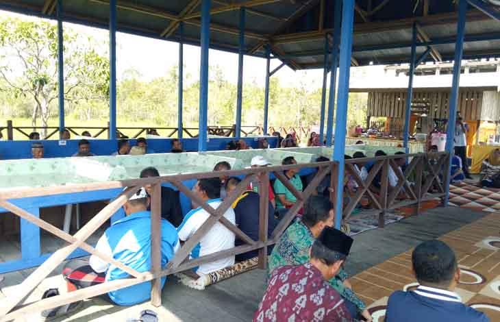 Suasana saat syukuran peresmian pasar ikan tradisional Sukma Sejahtera pada 2018 lalu.